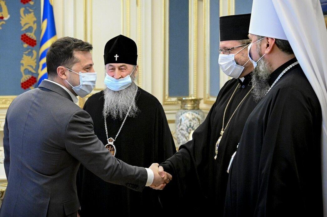 Зеленський провів зустріч із керівниками ПЦУ, УПЦ МП та УГКЦ
