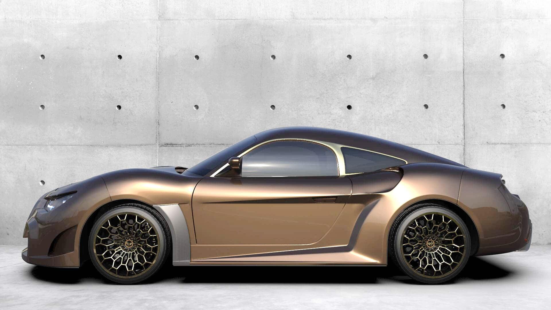 Компактный двухместный спорткар имеет самобытный внешний вид
