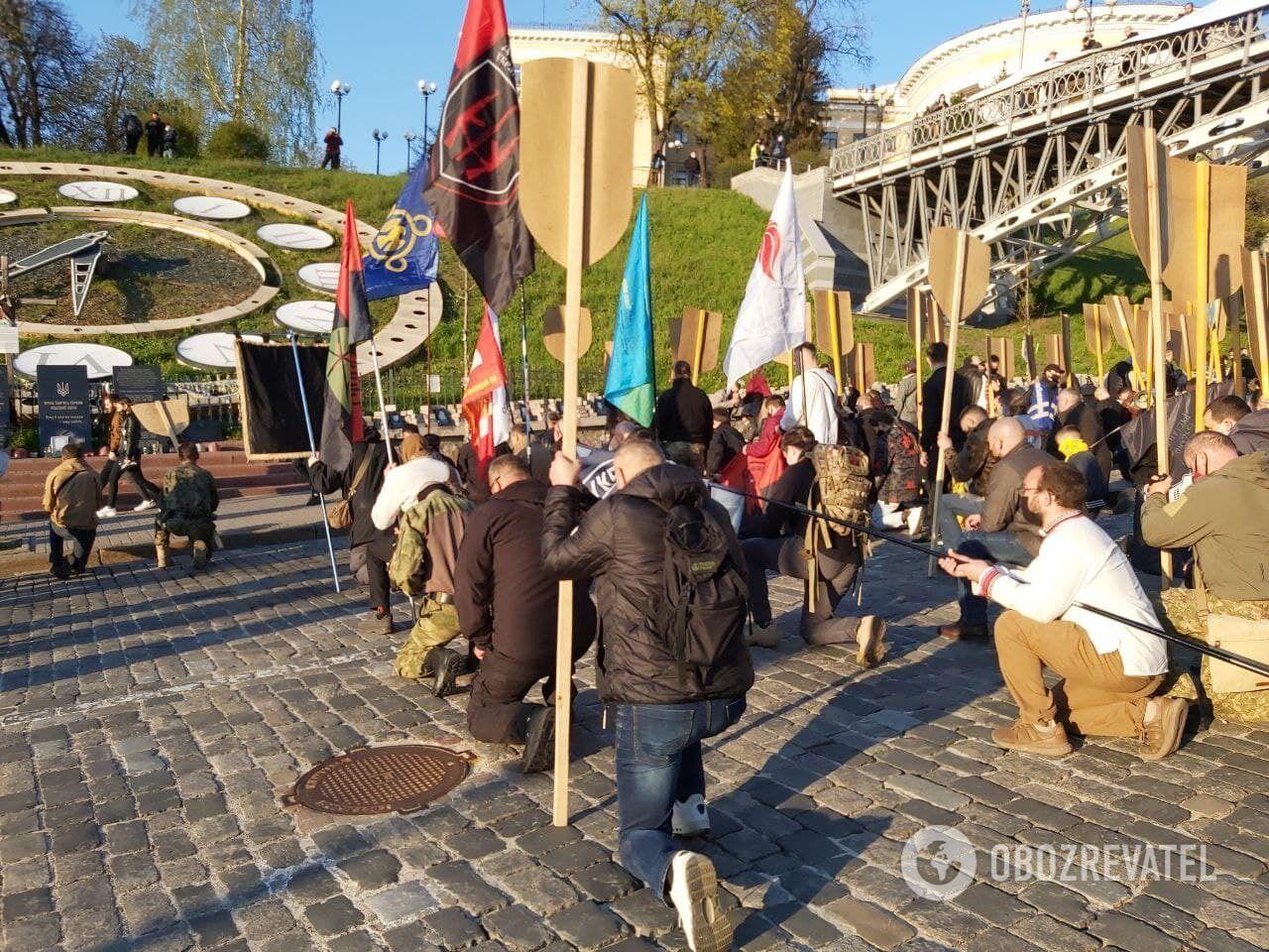 Марш завершился на Майдане Независимости.