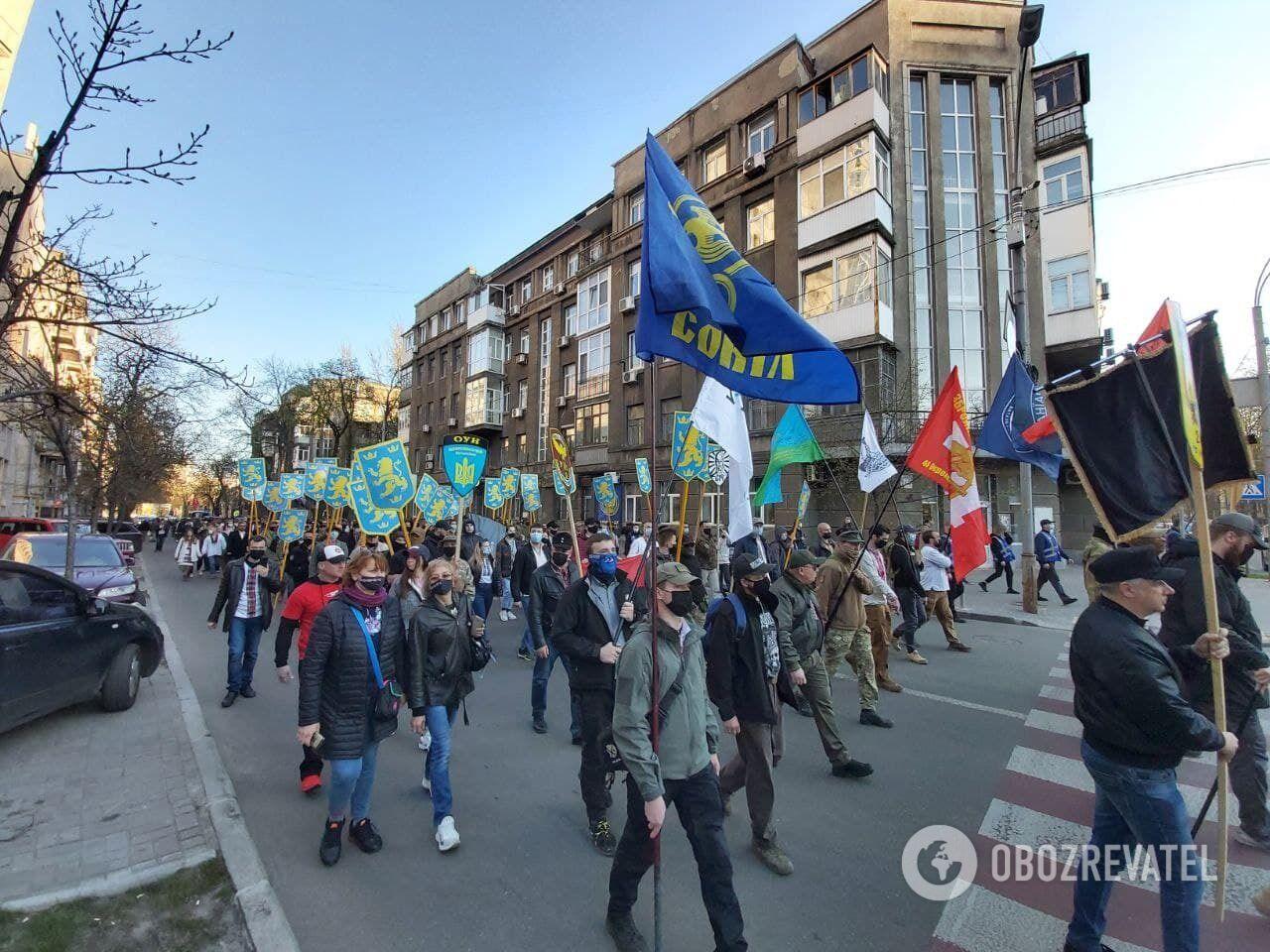 """Марш в честь дня создания дивизии """"Галичина""""."""