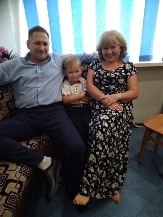 Иван с супругой Натальей и младшим сыном