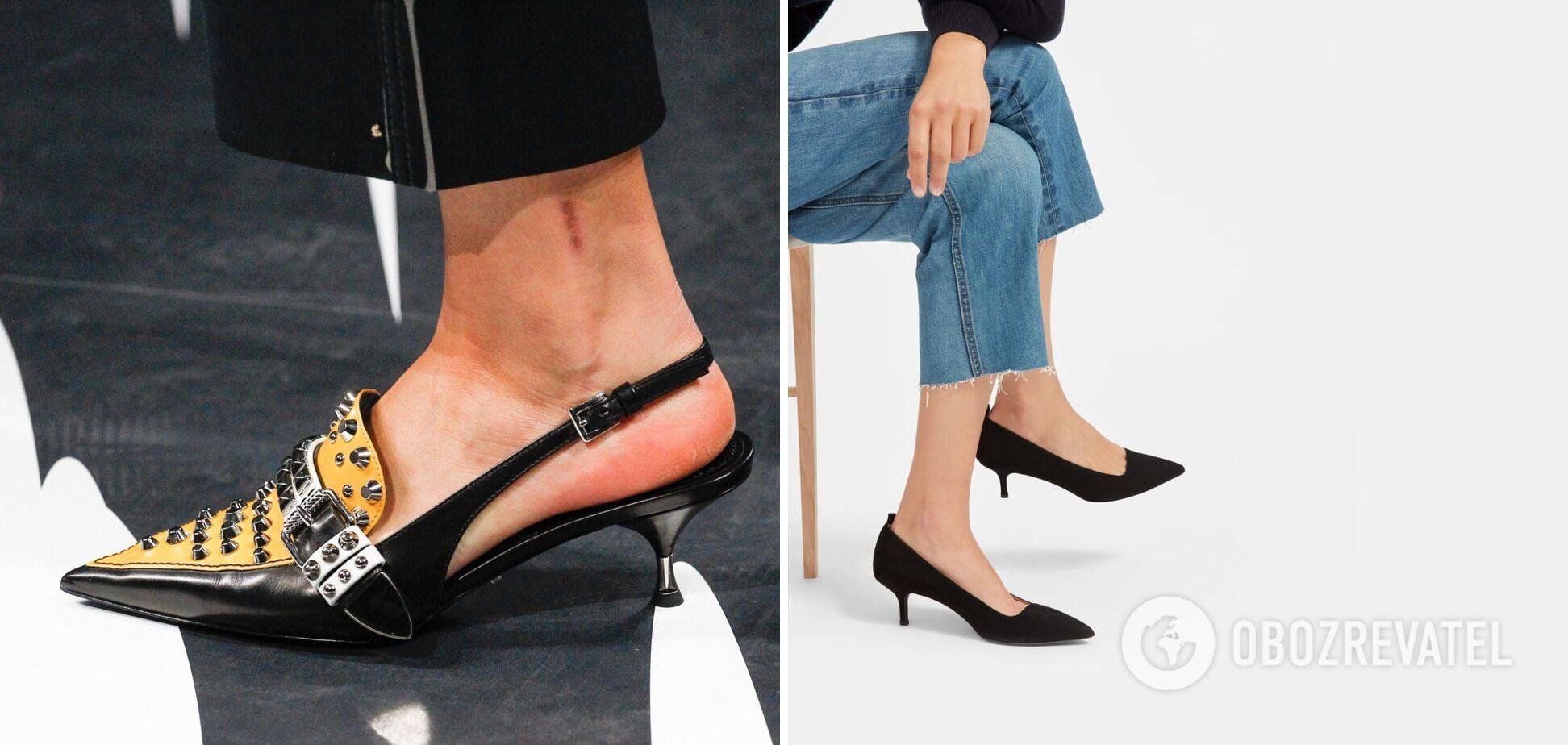 Туфли и босоножки на трехсантиметровом каблуке сделают образ более утонченным и женственным