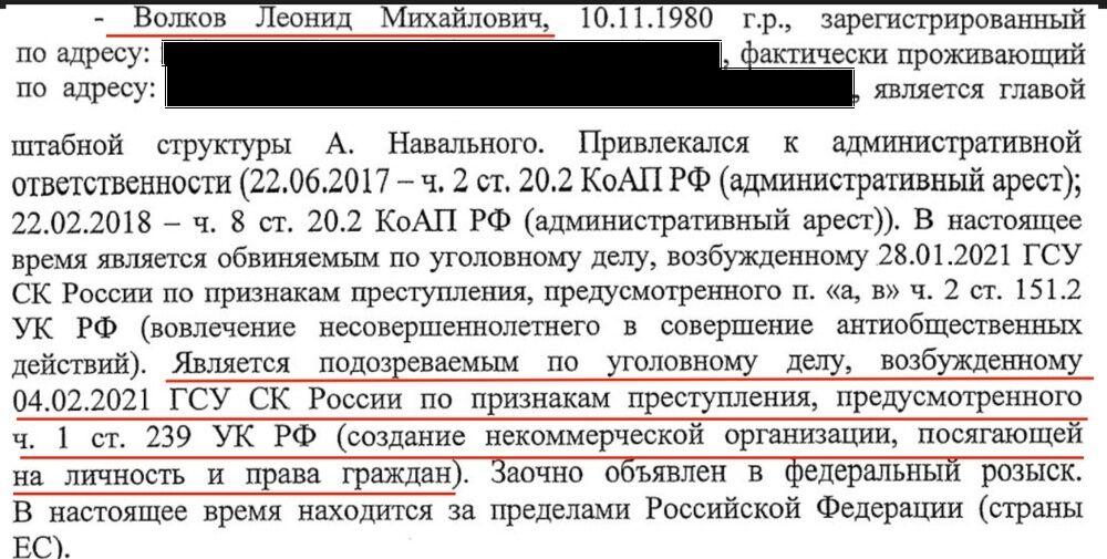 Вместе с Навальным по новому делу проходят его соратники