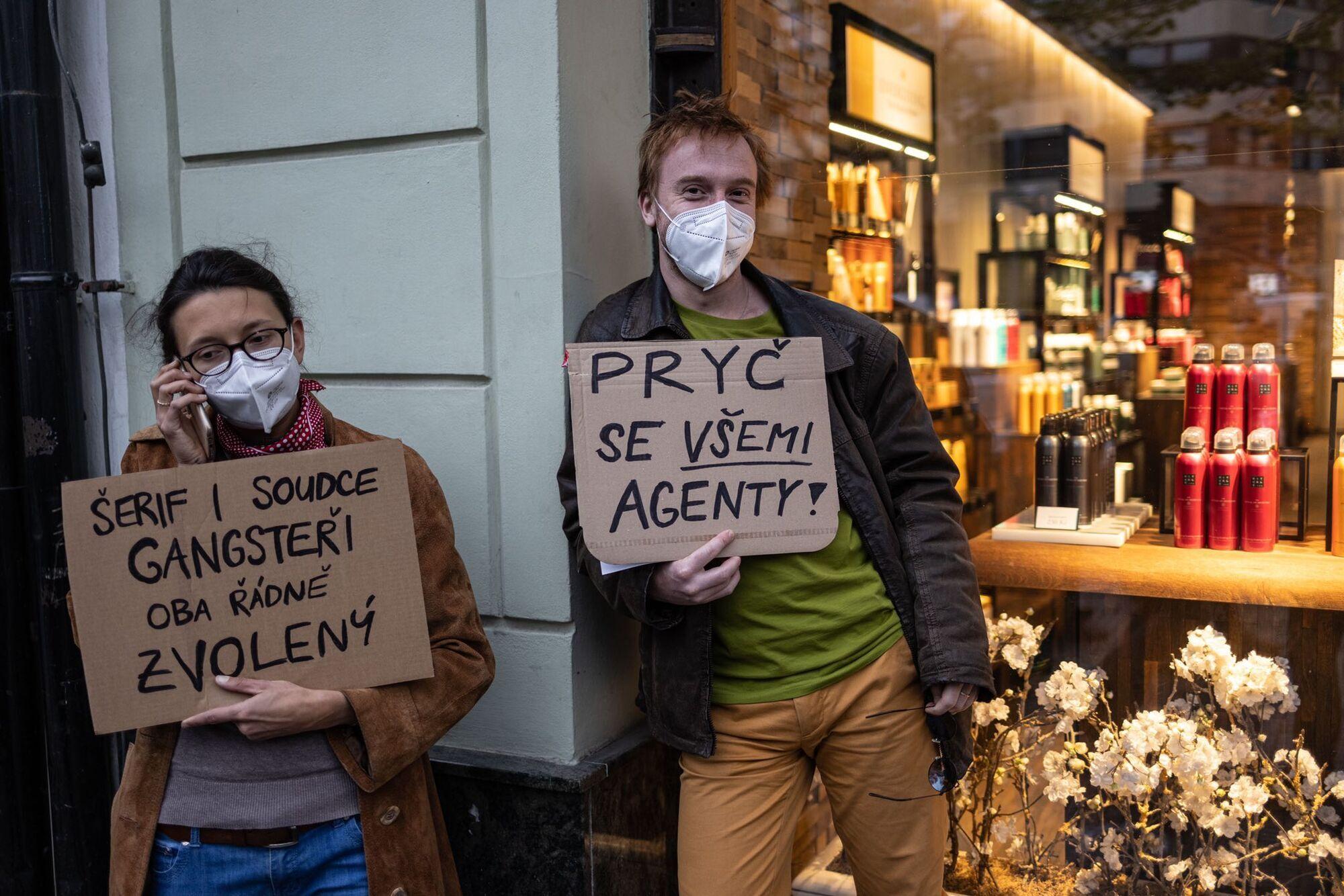 Митингующие были в масках