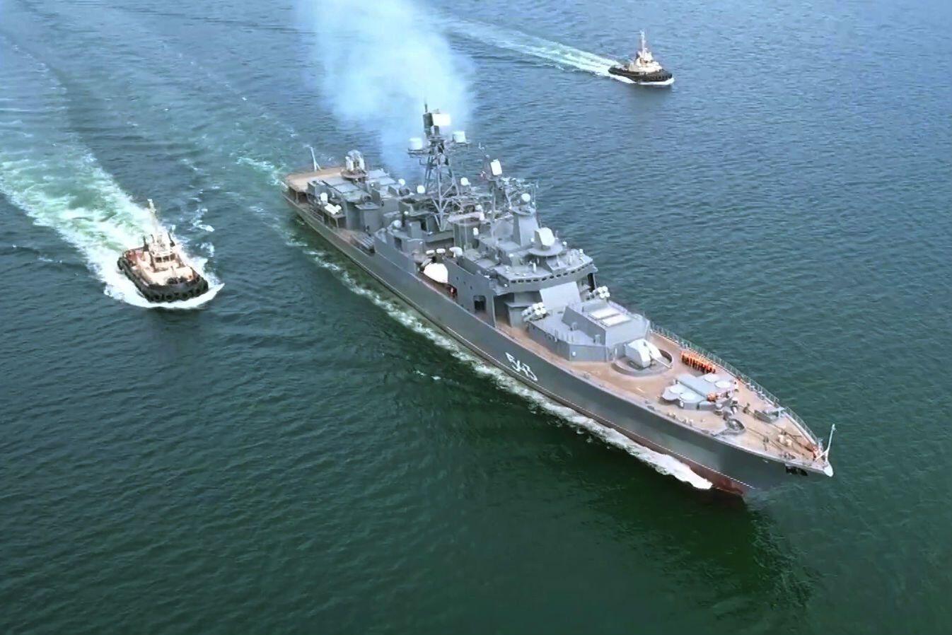 """Модернізований фрегат """"Маршал Шапошников"""" ВМВ Росії"""