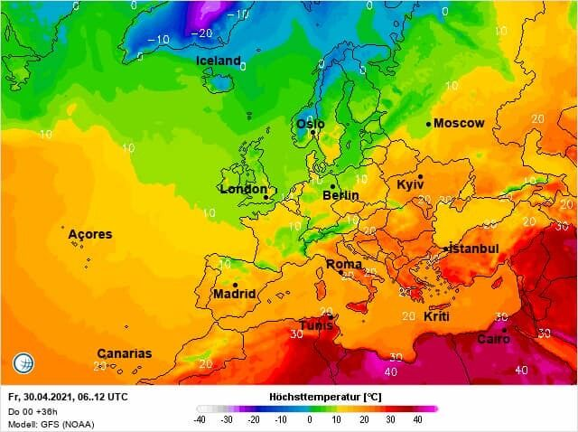 30 апреля в Украине потеплеет до +20 градусов
