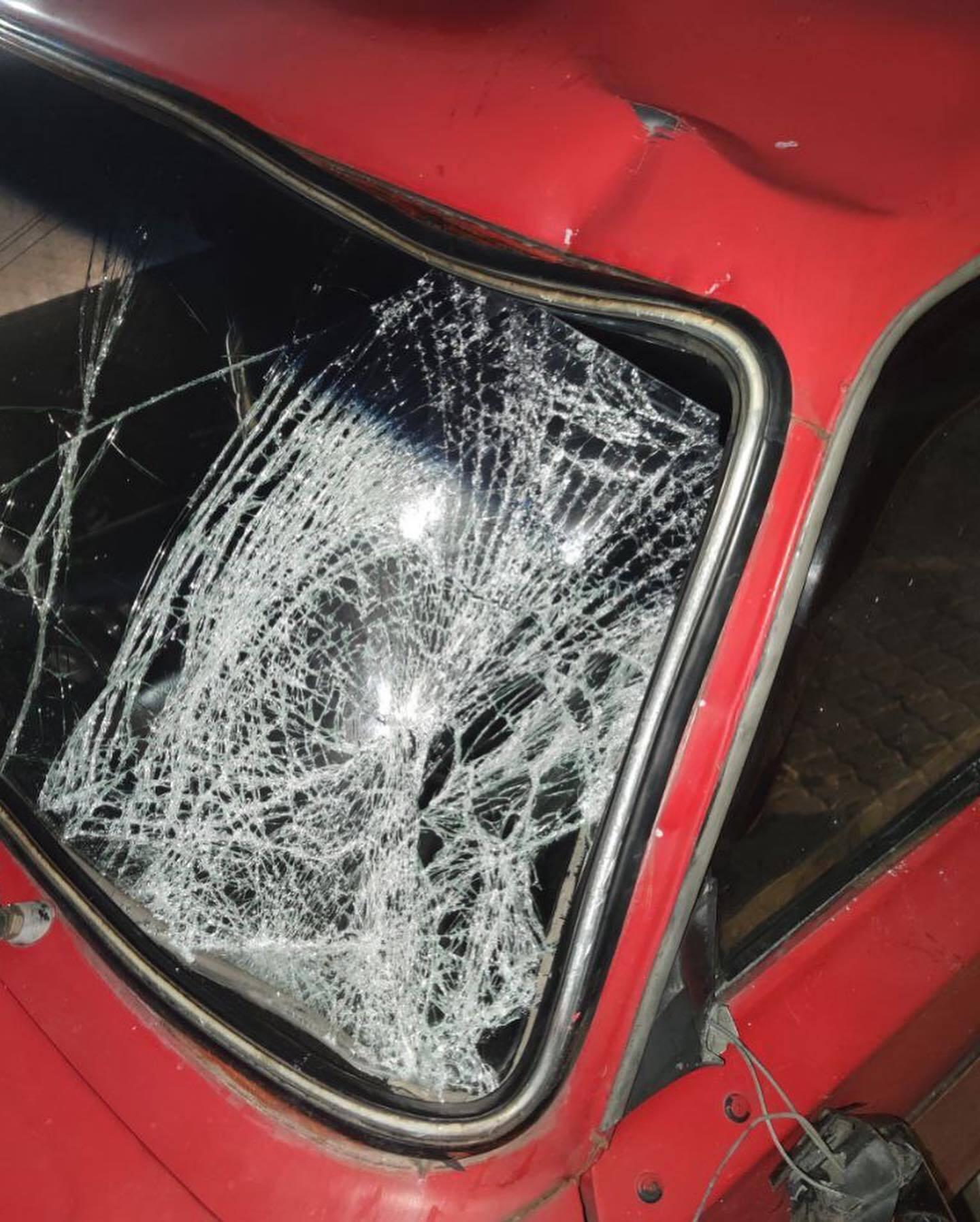 Машина після того, як збила мотоцикліста