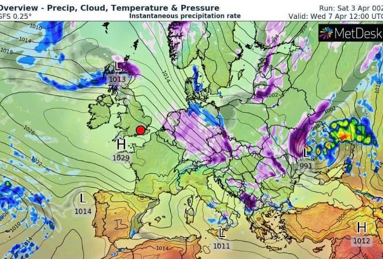 Погода 7-8 апреля в Украине.