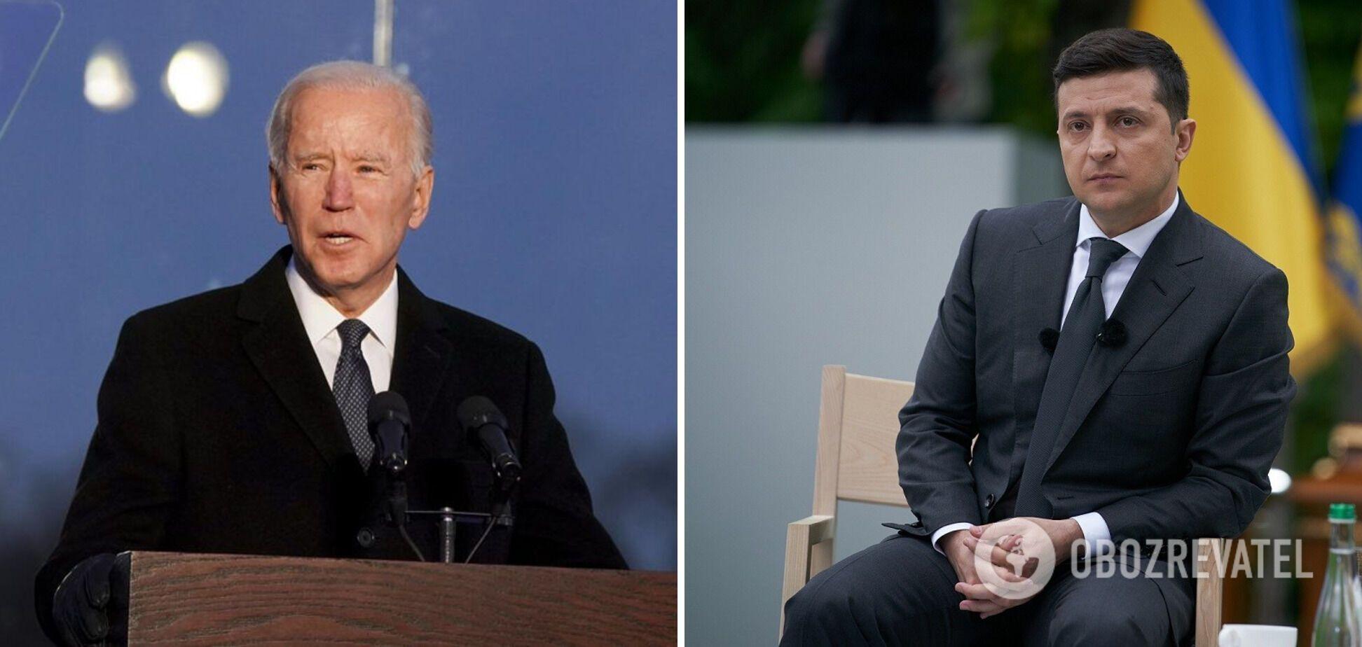Первый разговор президента Владимира Зеленского с американским лидером Джо Байденом