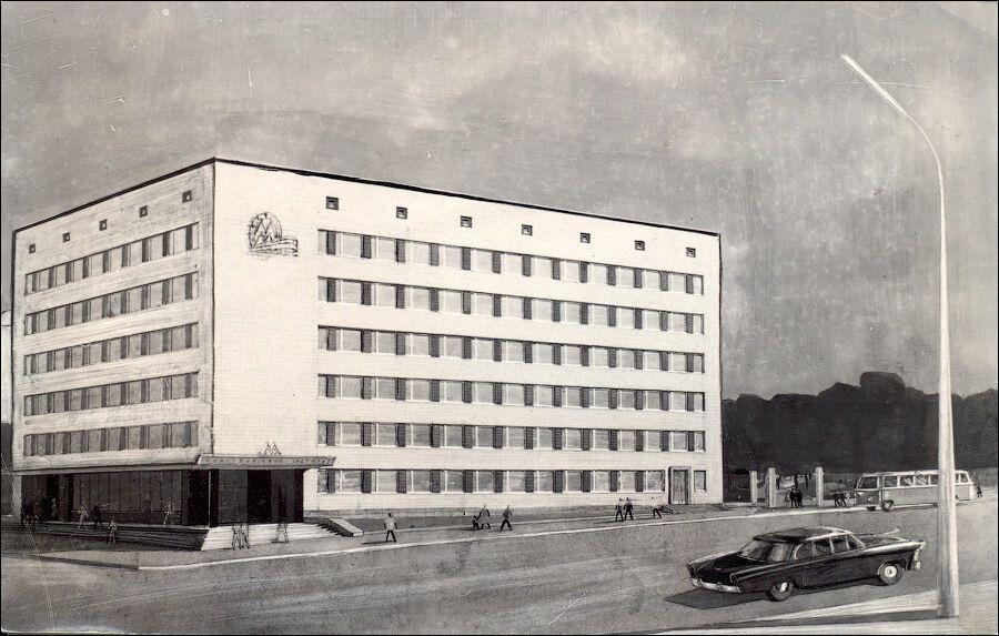 Эскиз здания управления метрополитена.