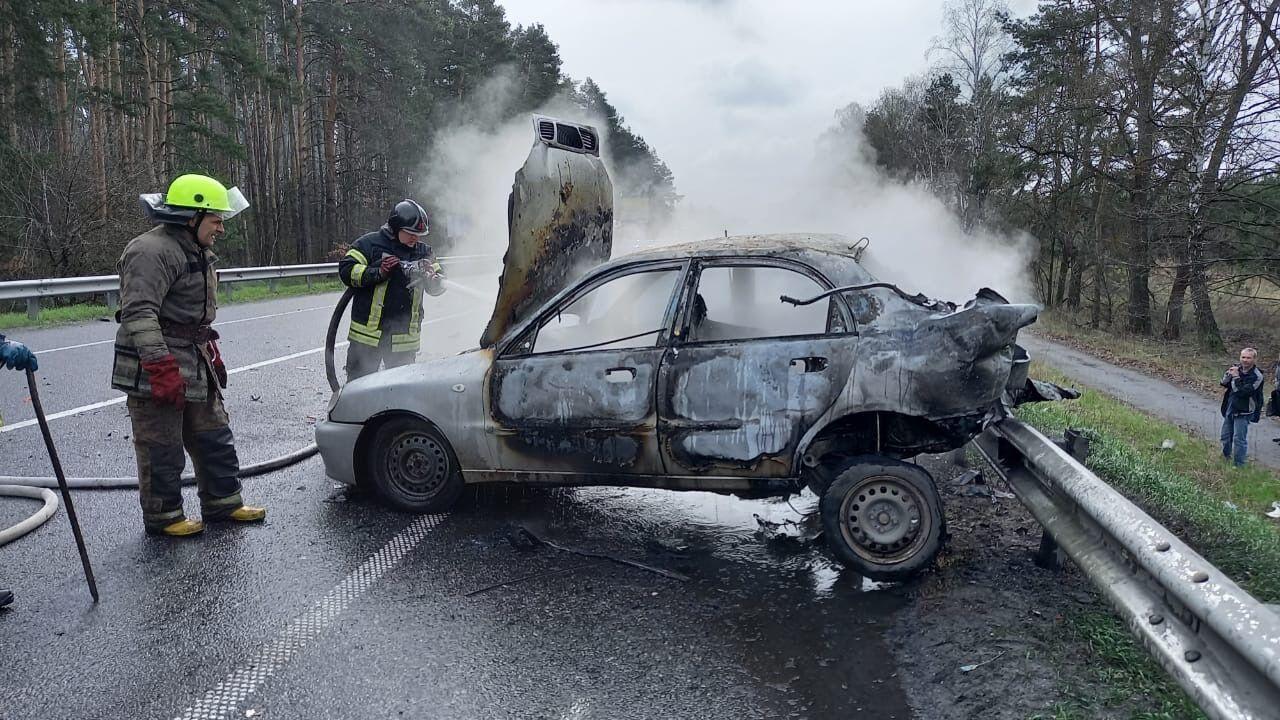 Водій Daewoo згорів заживо в машині.