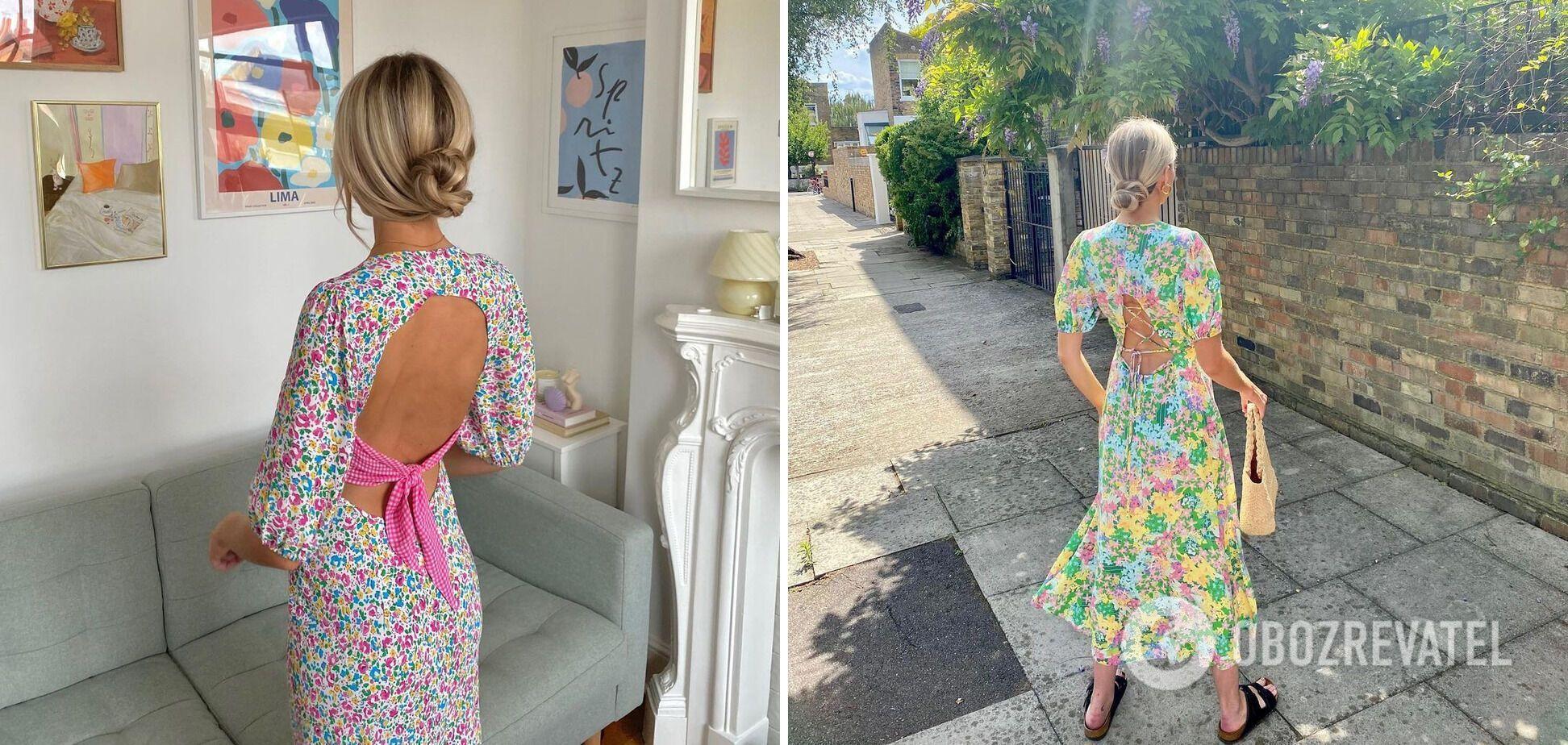Платье с цветочными принтами – главный тренд этого сезона