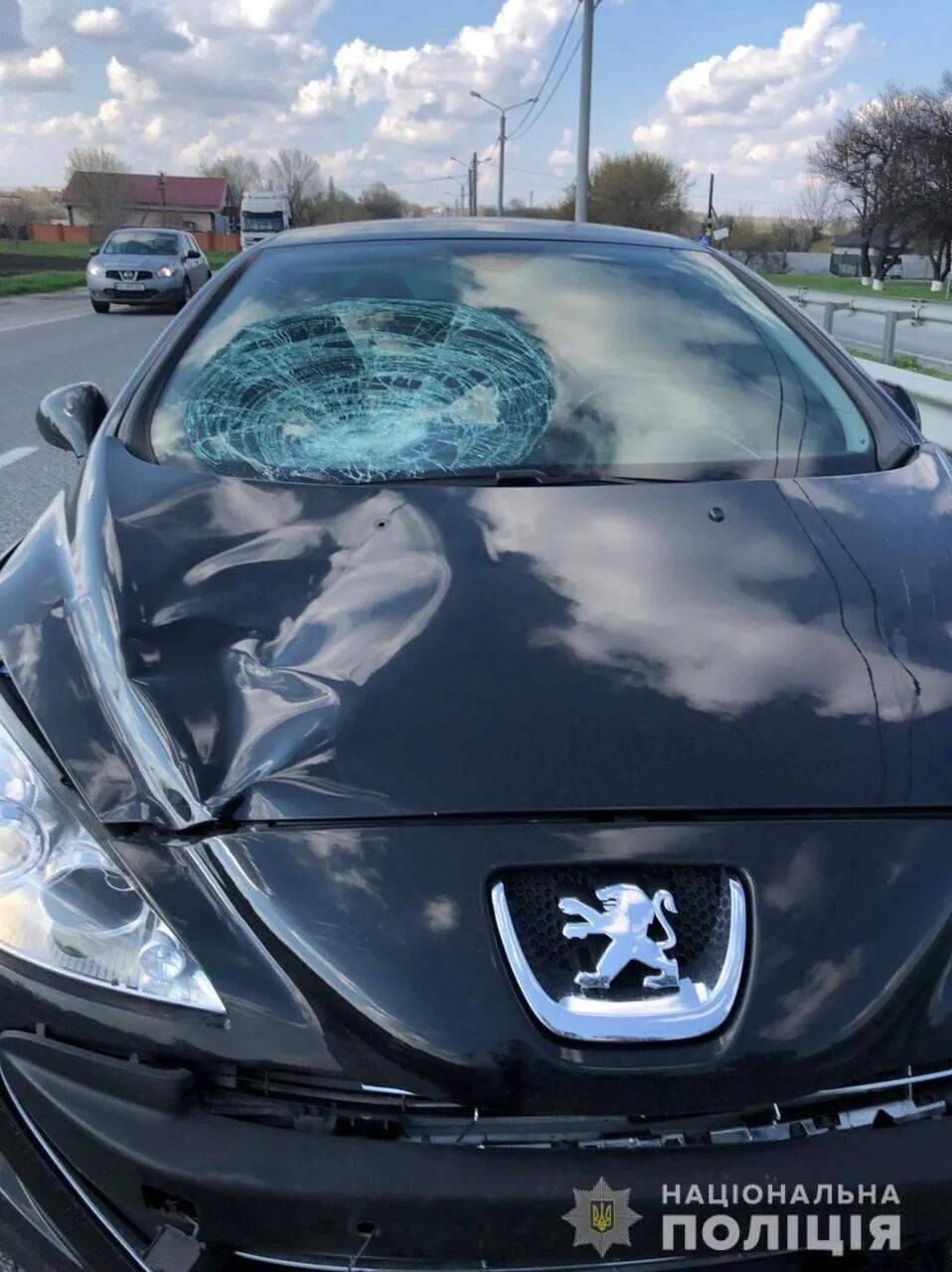 Дітей збив автомобіль Peugeot.