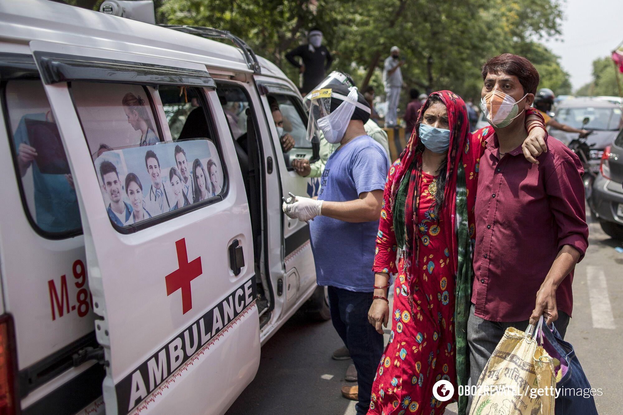 За останні сім днів в Індії щодня в середньому фіксують по 350-400 тисяч випадків хворих