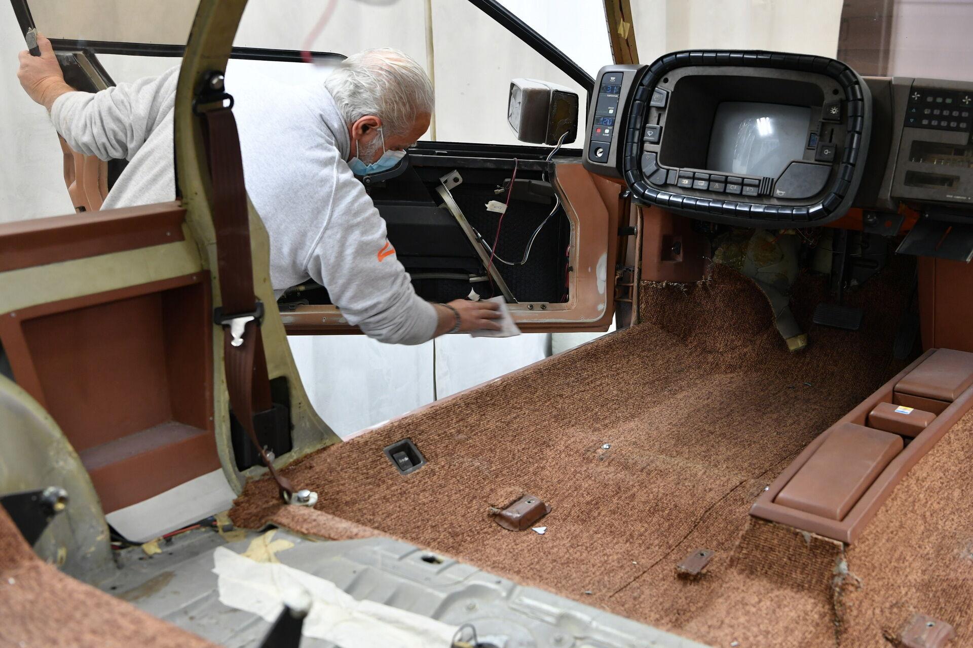 Автомобиль был полностью разобран и восстановлен до состояния оригинала
