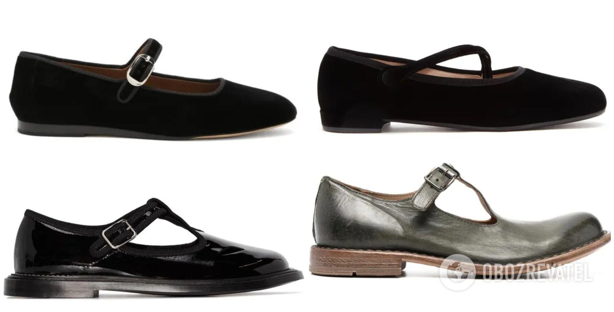 """Свои балетки """"мэри-джейн"""" также представили такие бренды как, Le Monde Beryl, Burberry, moma, Miu Miu и другие."""