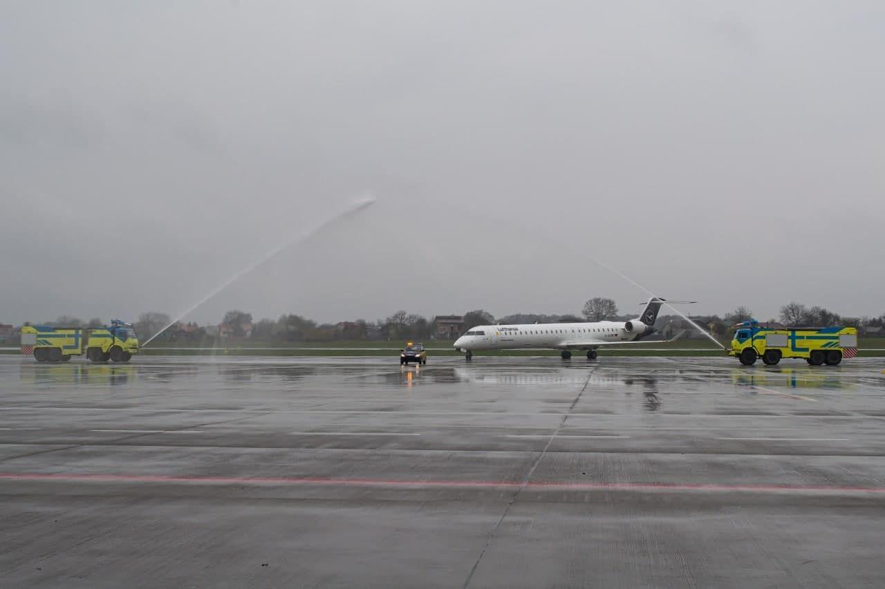 У Львові приземлився літак Lufthansa з Франкфурта-на-Майні