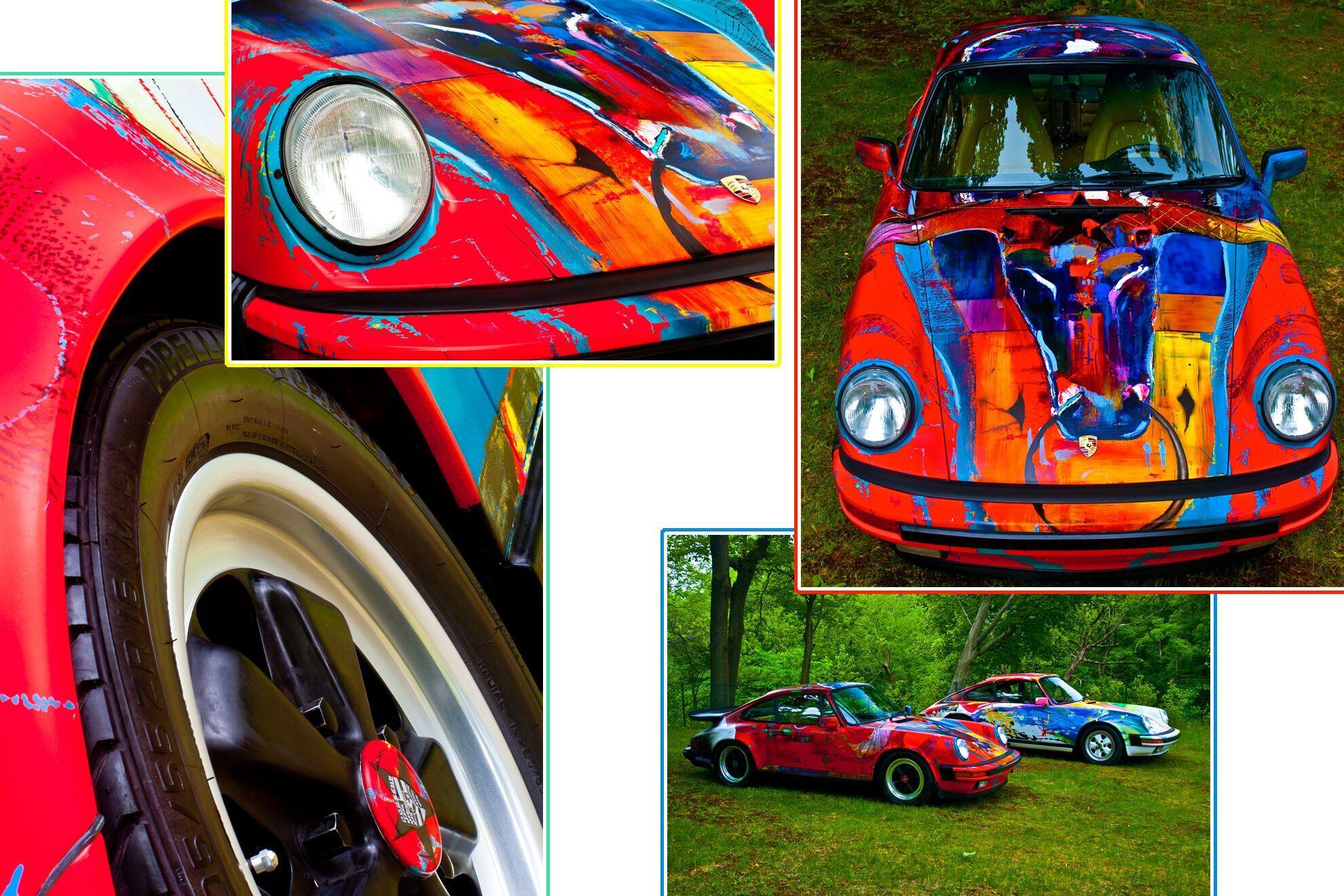 В росписи Porsche использована широкая палитра цветов