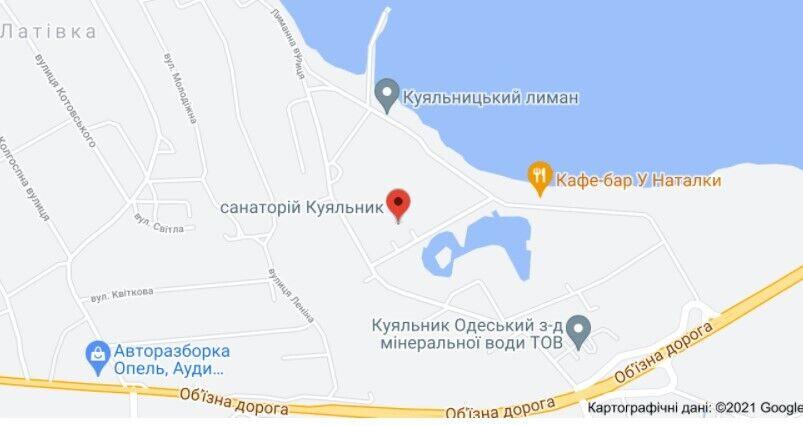 Пожежа виникла на 2-му поверсі санаторію Куяльник
