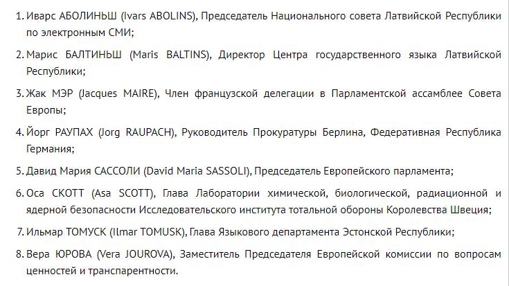 Список чиновників ЄС, яким заборонений в'їзд у РФ.