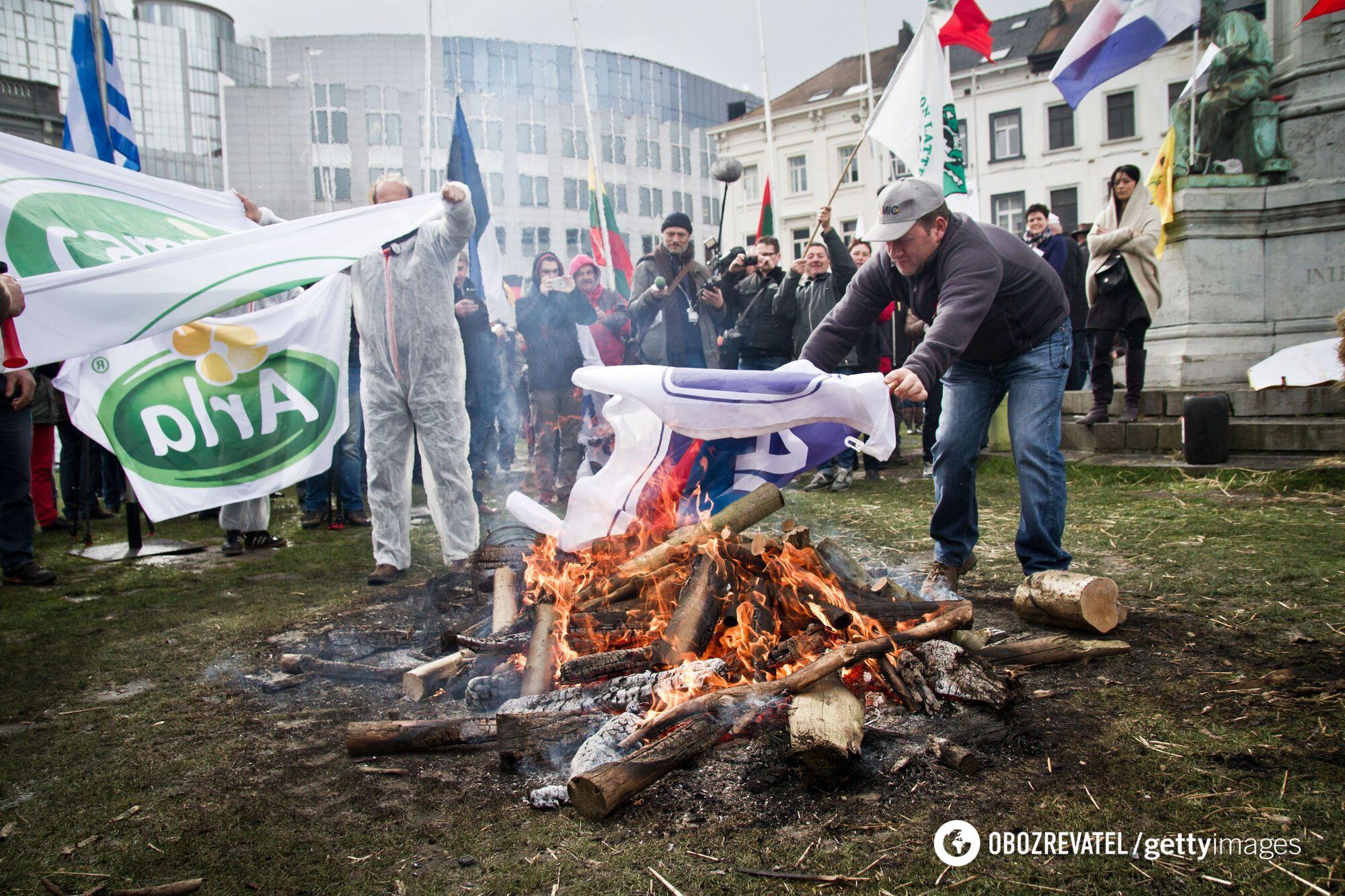 Протест фермерів у Страсбурзі.