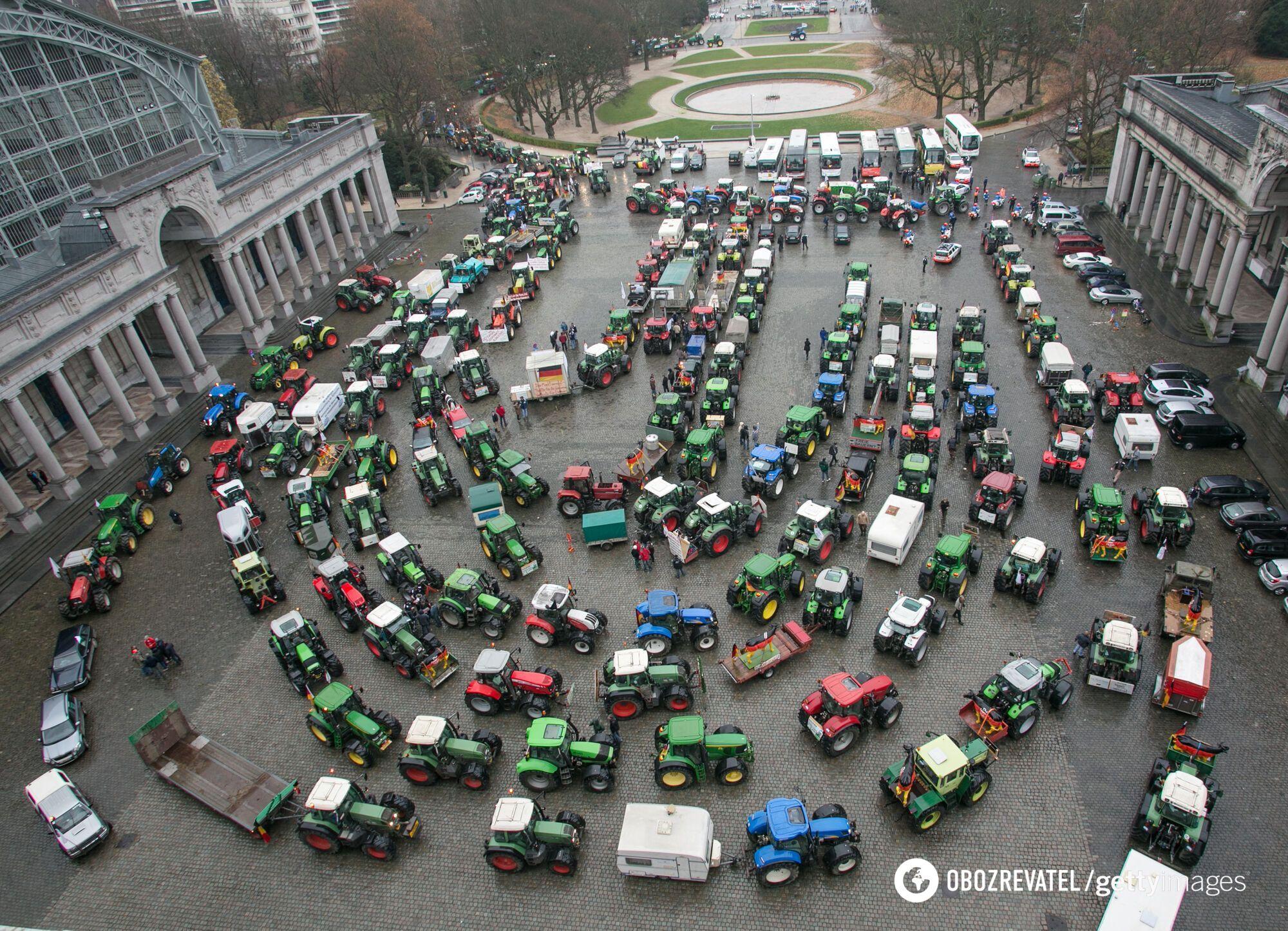 Більше ніж 1400 тракторів приїхали до Страсбурга.