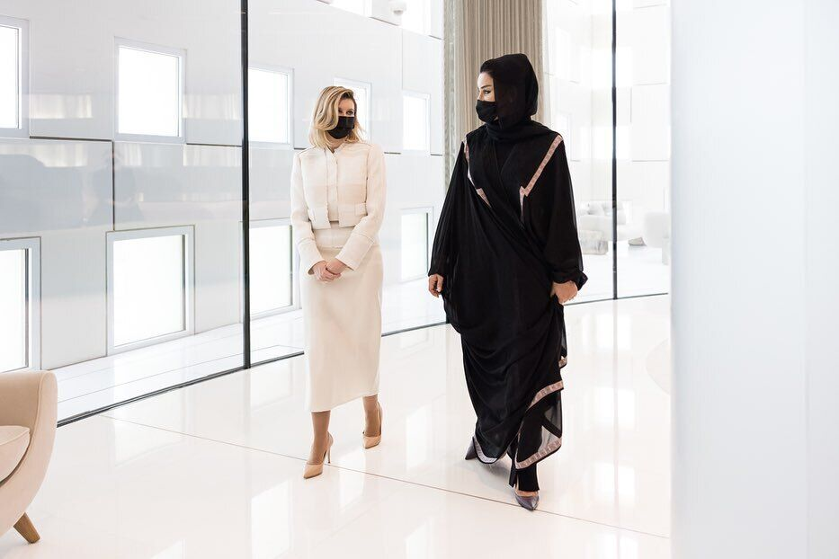 Олена Зеленська на зустрічі з дружиною шейха Катару