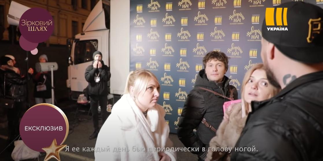 Украинский певец и телеведущий Олег Кензов рядом с возлюбленной (справа)