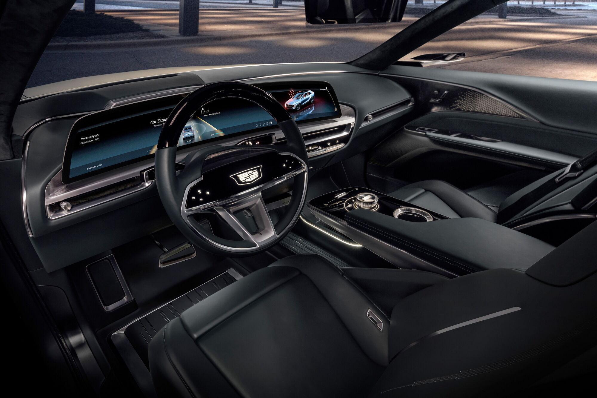 Cadillac Lyriq отримає багату базову комплектацію з цифровим кокпітом та великим 33-дюймовим дисплеєм