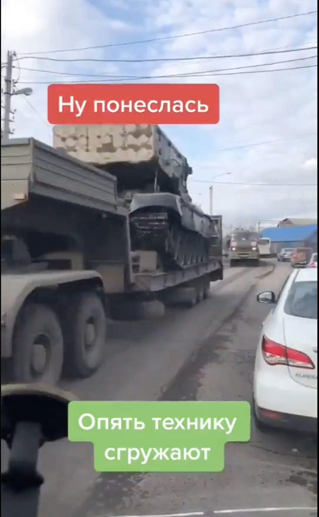 Перемешение техники в Воронеже