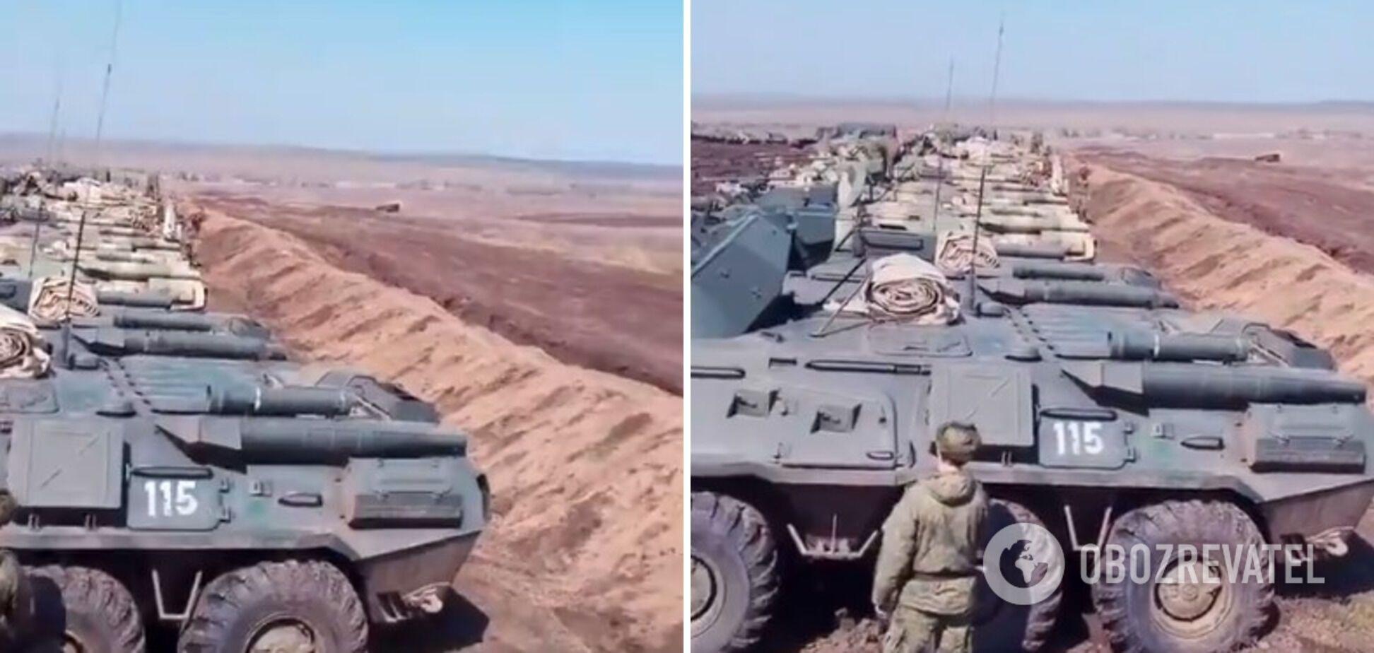 Наемники РФ ужасают сеть кадрами со скоплением военной техники