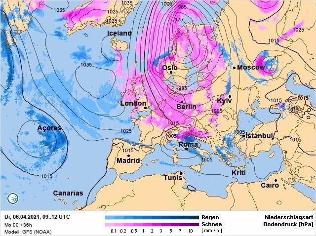 6 квітня на заході України випаде сніг
