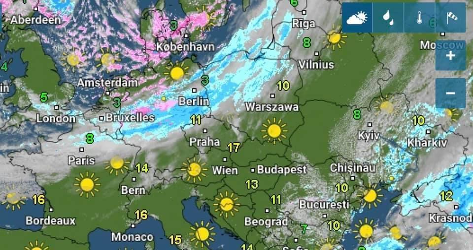 Зміну погоди в Україні спричинить атмосферний фронт