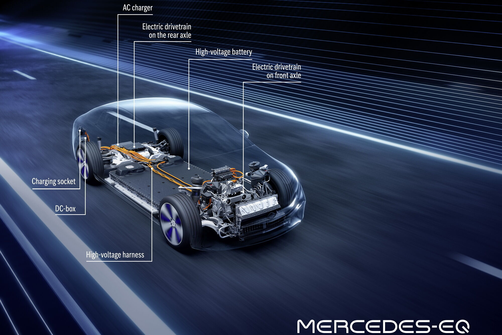 EQS стане першою моделлю, яка побудована на новій модульній платформі MEA (Modular Electric Architecture)