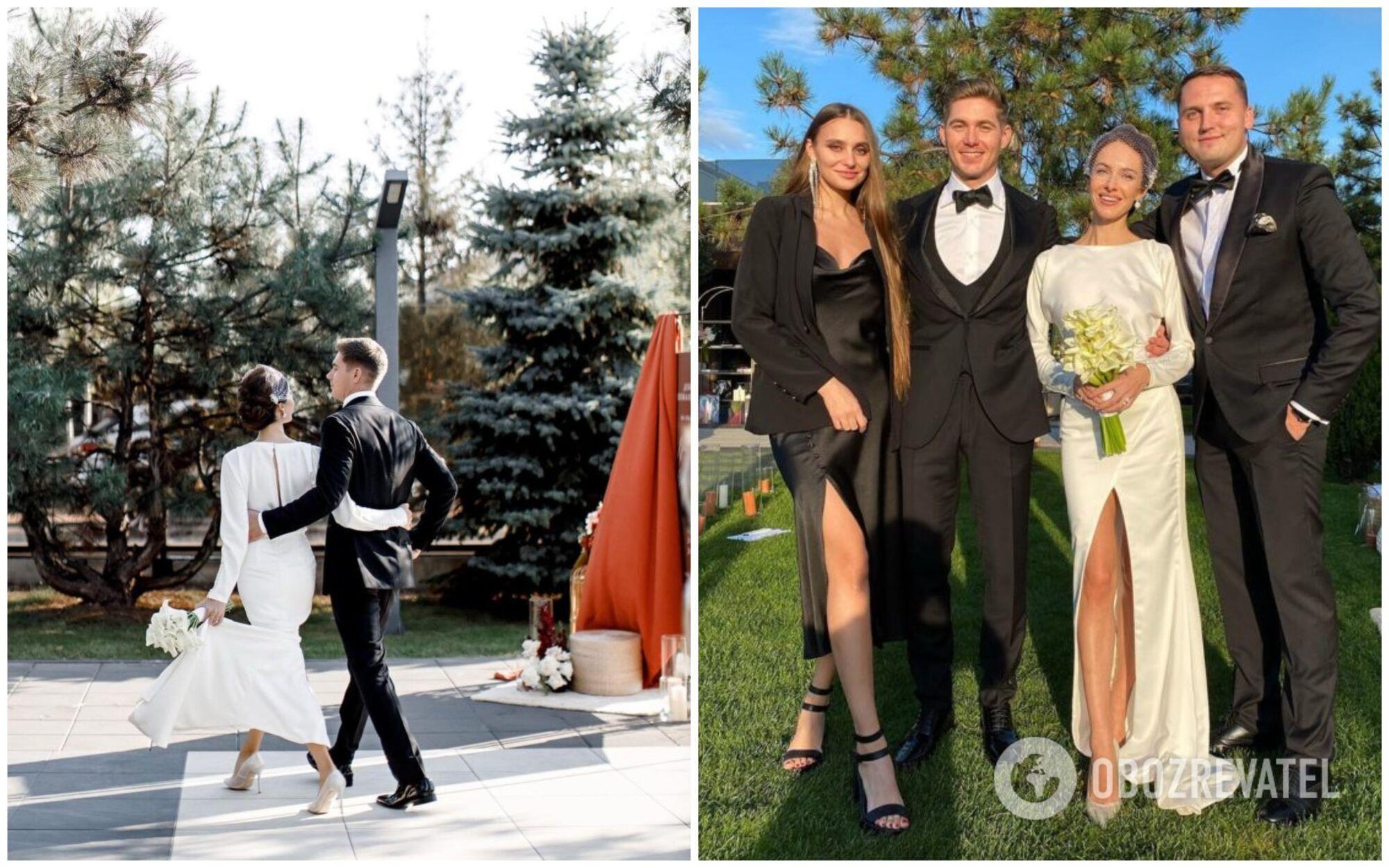 Кристина встречала гостей в лаконичном платье с вырезом