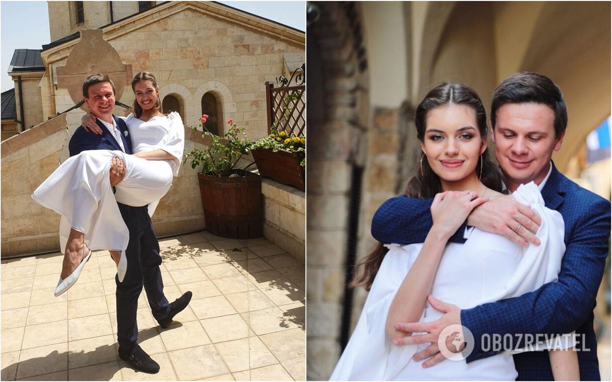 Александра Кучеренко и Дмитрий Комаров поженились в 2019 году