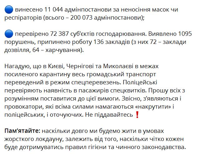 Порушення карантину в Україні