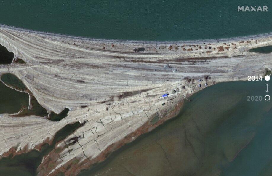 Спутниковые снимки в 2014 году.