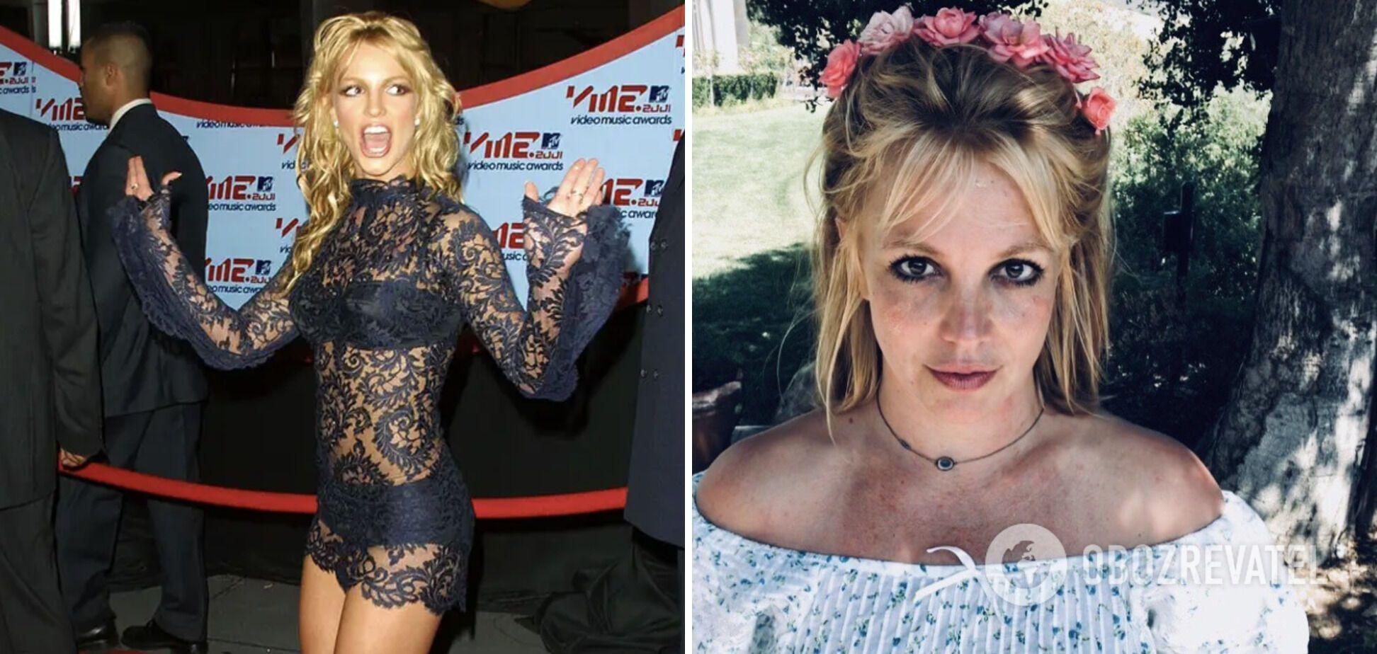Бритни Спирс 20 лет назад и сейчас.