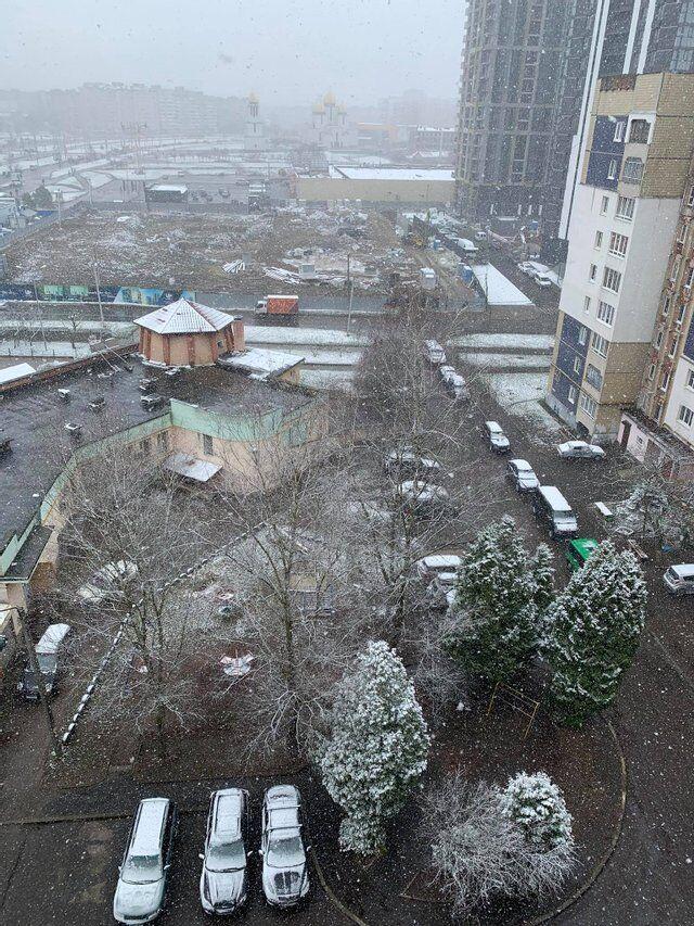 На западной Украине похолодало.