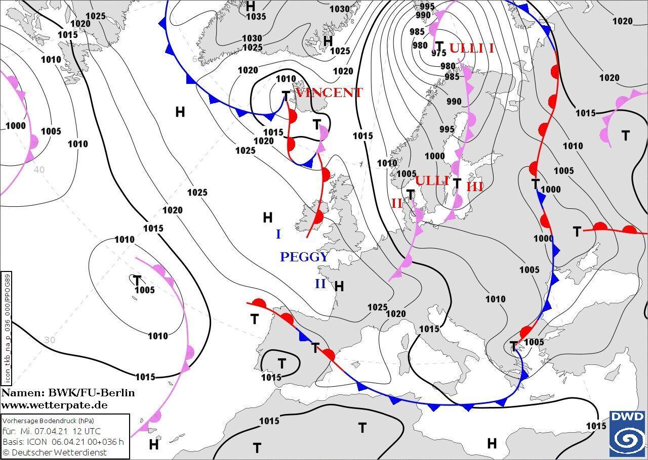 Украину охватит холодная арктическая масса и влажный южный циклон