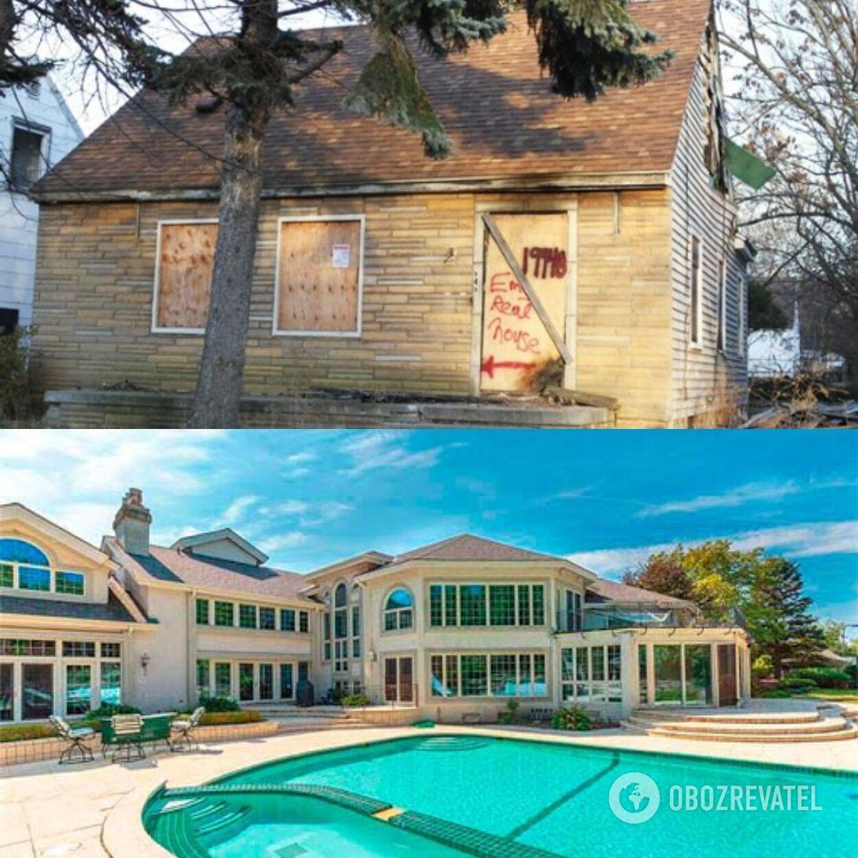 Дом детства Эминема (рэпер поместил фото этого дома на обложку одного из своих альбомов) и один из особняков певца, который он приобрел, став известным