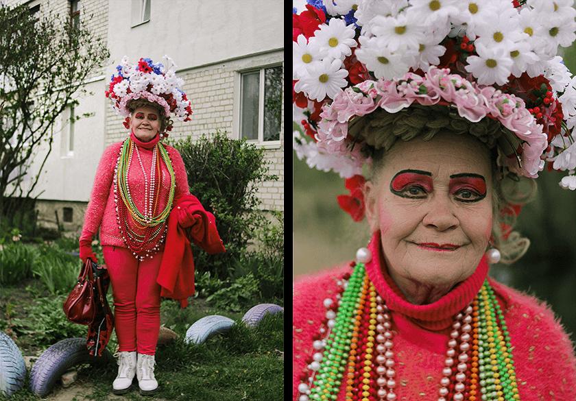 Украинский фотограф создала проект об экстравагантной женщине Вере