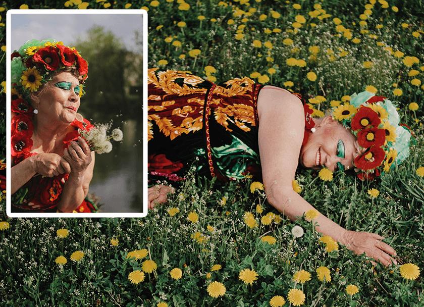 Украинский фотограф выпустила проект об экстравагантной женщине Вере