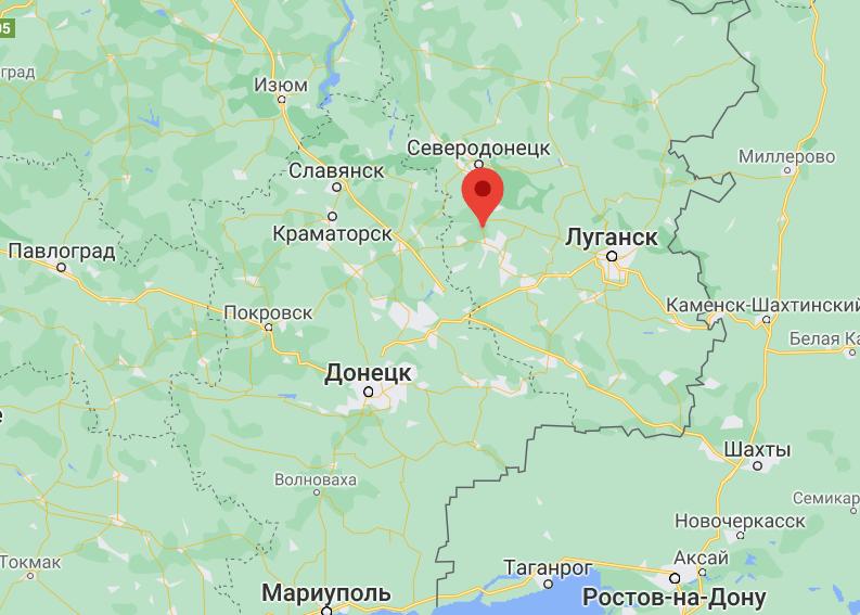 Золотое-4 на карте Украины.