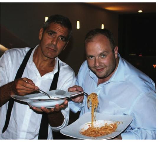 Гречин із голлівудським актором Джорджем Клуні