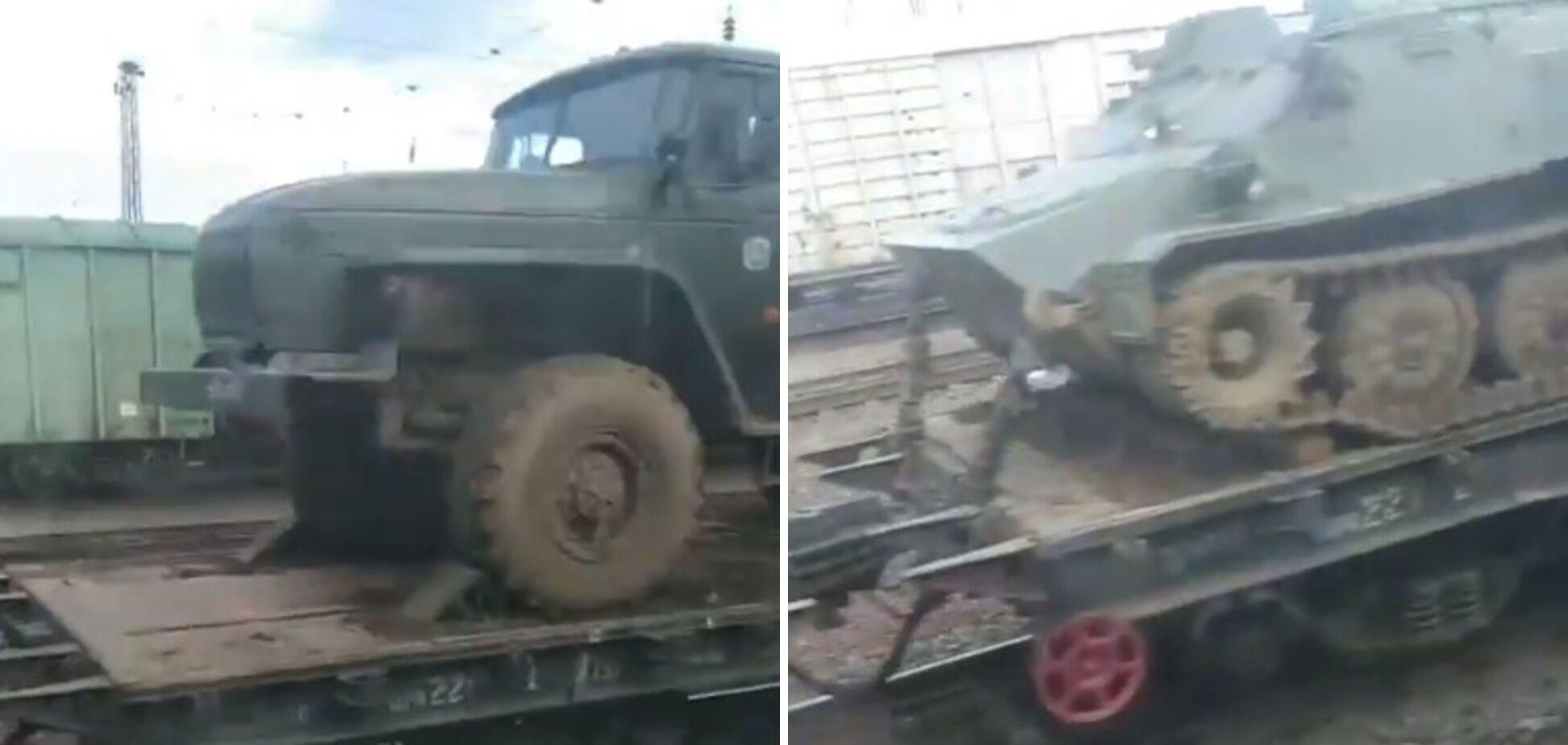Колона військової техніки РФ