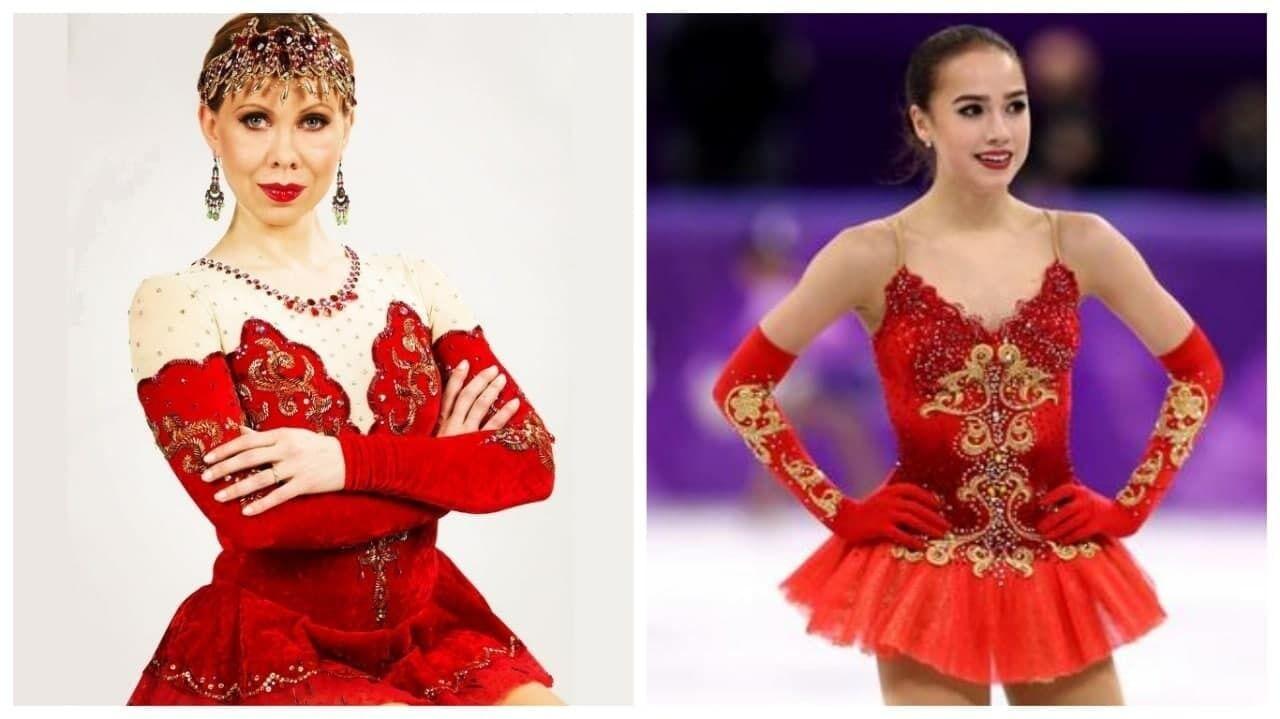 Оксана Баюл в 1995 году и Алина Загитова в 2018-м