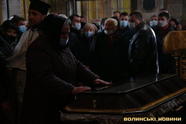 Прощание с погибшим воином ВСУ Сергеем Сулимой