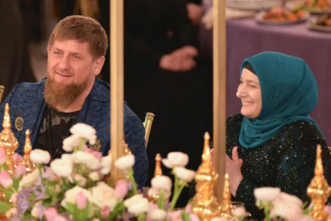 Рамзан Кадиров і його дружина Медні Кадирова